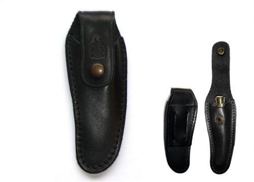 Black leather on belt sleeve
