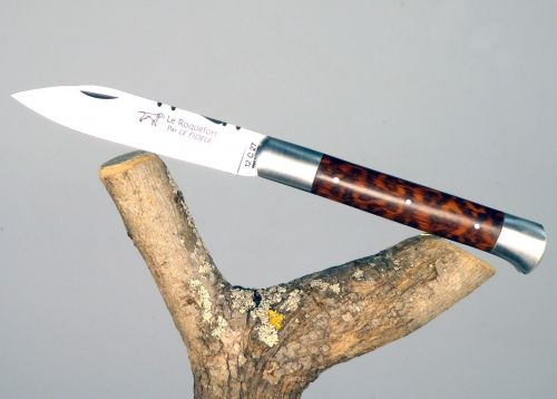 Roquefort knife with its Amourette wood Handle with its Amourette wood handle