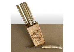 6 Laguiole Race knives - Cream color Madreperlato handle