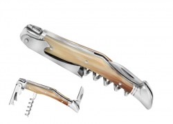 laguiole corkscrew, Wine Opener Natural beige horn tip Handle