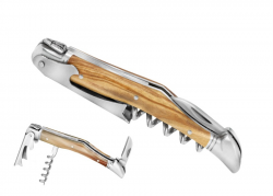 laguiole corkscrew, Wine Opener Olivewood Handle
