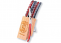 6 Laguiole Race knives - Red and black color Madreperlato handle
