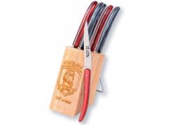 Coffret de 6 couteaux Racé - Manche en madreperlato rouge et noir