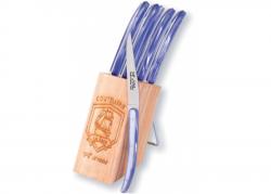 Coffret de 6 couteaux Racé - Manche en madreperlato bleu