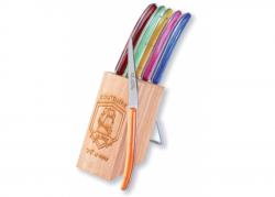Coffret de 6 couteaux Racé - Manche en madreperlato multicolor