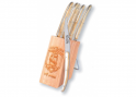 6 Laguiole Race knives - Cream color Madreperlato handle
