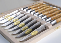 Laguiole 6 table knives set with its Natural Oliver tree wood handle