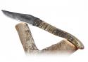 Couteau Laguiole Forgé Ciselé, Plein Manche en Corne de Bélier.