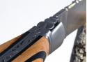 Couteau Laguiole bombé et forgé - manche en bois de genévrier et ébène - mitres acier