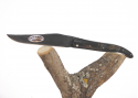 Laguiole Forged - American's Buffalo/Bison Horn Crust Handle Full Handle - Raw Tempered Blade.