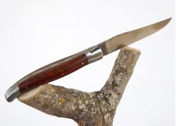 Rounded Laguiole knife - amourette wood handle - stainless steel bolsters