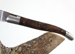 Laguiole Forged Chopped, Guilloched Handmade, Walnut Handle