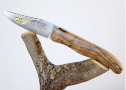 Laguiole Hunting Knife, Forged Spring and Bee, Olive Wood Full Handle