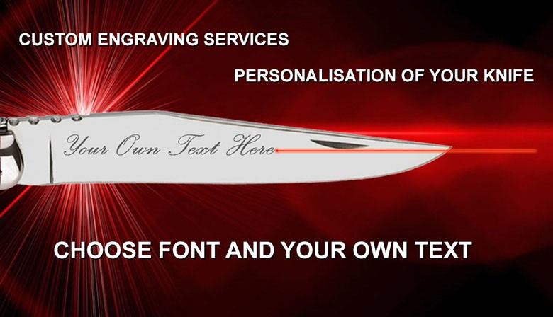 PERSONALISATION OF YOUR KNIFE BLADE LASER-PRINTED
